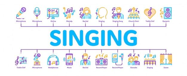 Banner de música cantando