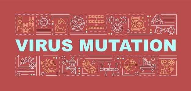Banner de mutação de vírus