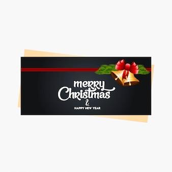 Banner de natal com decoração elegante