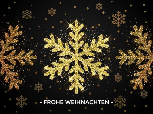 Banner de natal da frohe weihnachten