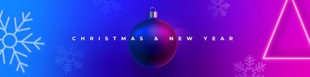 Banner de natal e véspera de ano novo