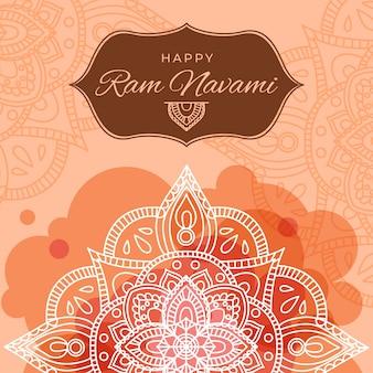 Banner de navami ram com mandala