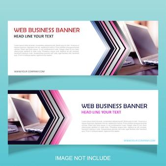 Banner de negócios da web