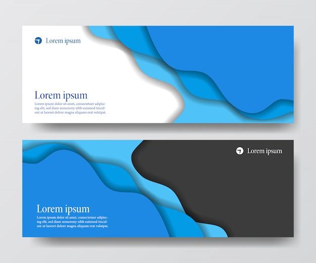 Banner de negócios de cabeçalho líquido fluido