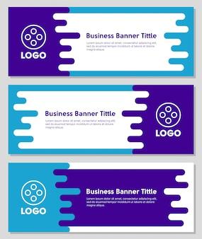 Banner de negócios de formas líquidas