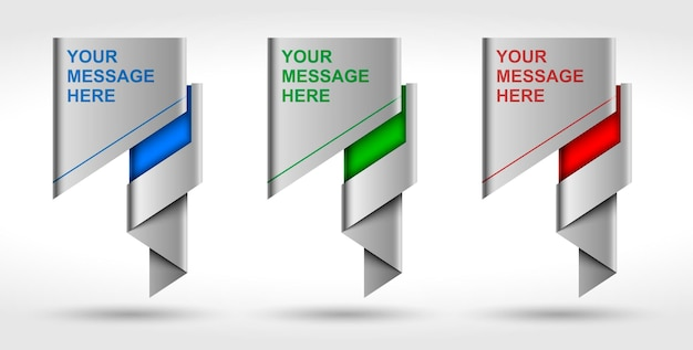 Banner de negócios de origami, balão de fala e lugar para mensagem