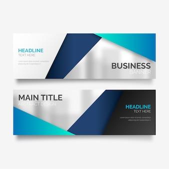 Banner de negócios em design moderno