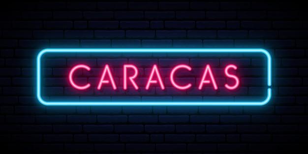 Banner de néon caracas