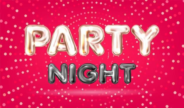 Banner de noite de festa