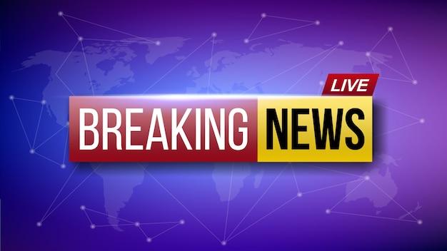 Banner de notícias de última hora ao vivo no mundo