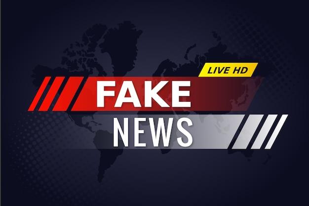 Banner de notícias falsas para televisão ao vivo
