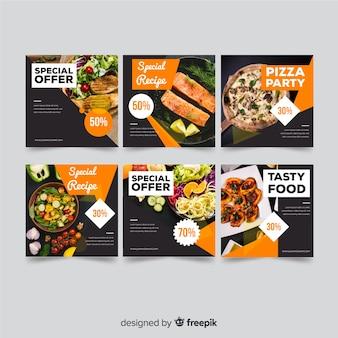 Banner de oferta de comida com foto