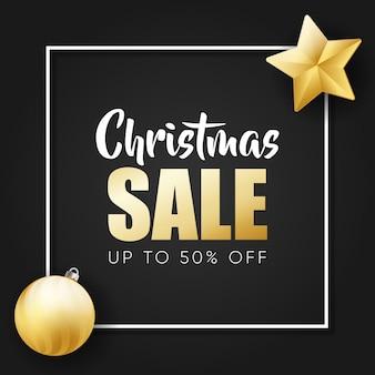 Banner de oferta de venda de natal