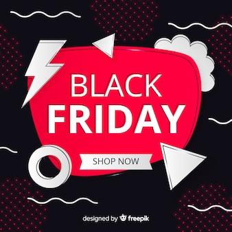 Banner de oferta especial de sexta-feira negra gradiente