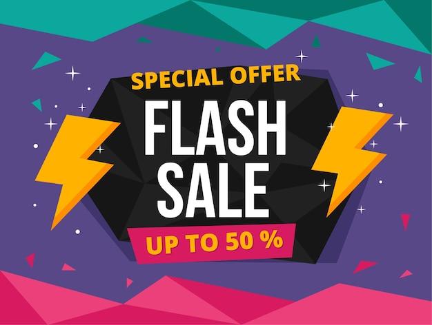 Banner de oferta especial de venda de flash