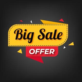 Banner de oferta especial de venda e design de etiquetas de preço