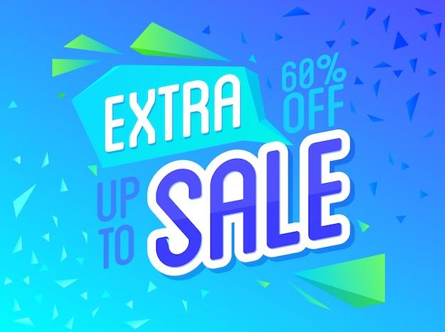 Banner de oferta especial de venda extra