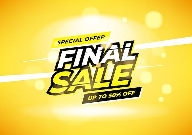 Banner de oferta especial de venda final.