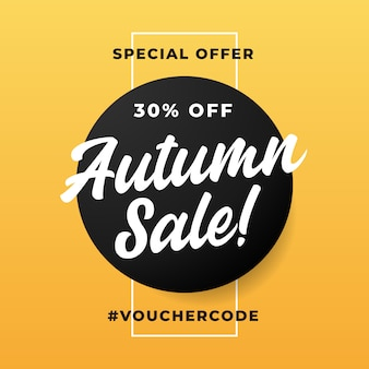 Banner de oferta especial de venda outono