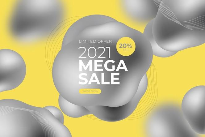 Banner de oferta especial de vendas com a cor do ano
