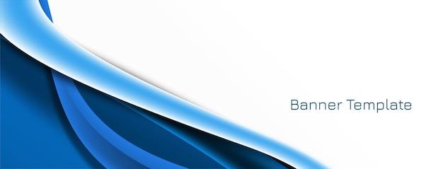 Banner de onda abstrata elegante