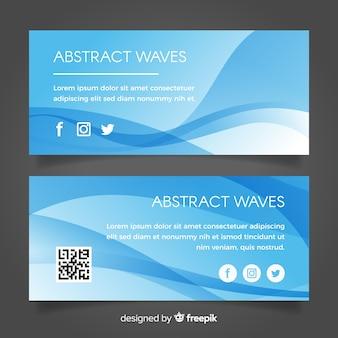 Banner de ondas abstratas