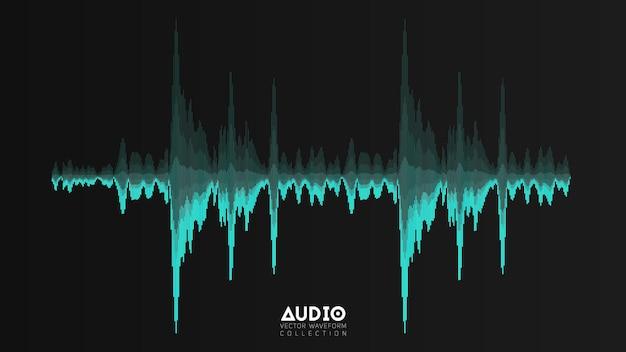 Banner de oscilação de ondas de música abstrata
