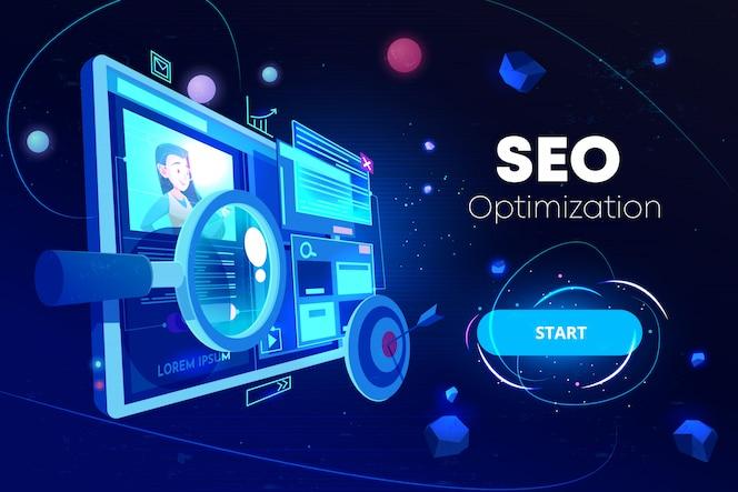 Banner de otimização de seo