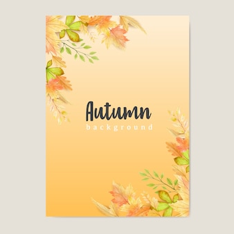 Banner de outono com fundo colorido de folhas de outono