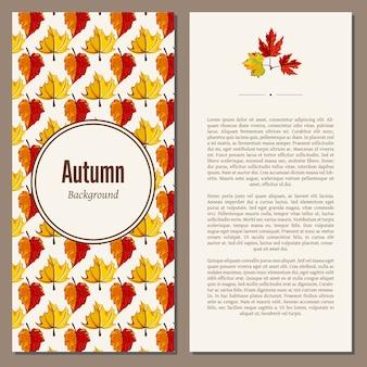 Banner de outono com texto