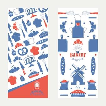 Banner de padaria, adesivo de pacote de produção de padaria,