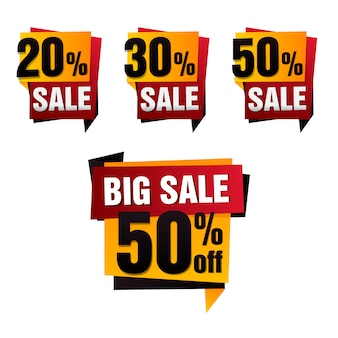 Banner de papel de venda. fundo de venda. grande venda. conjunto de marca de venda. cartaz de venda. oferta especial