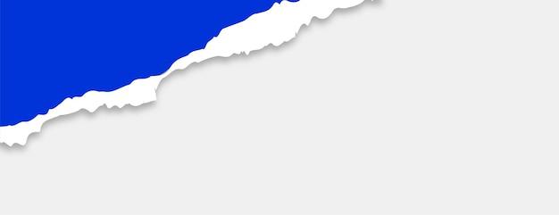 Banner de papel rasgado rasgado com espaço de texto