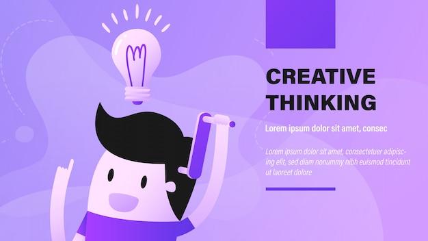 Banner de pensamento criativo