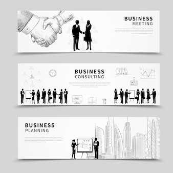 Banner de pessoas de negócios