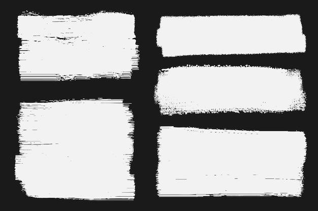 Banner de pincelada de grunge abstrato