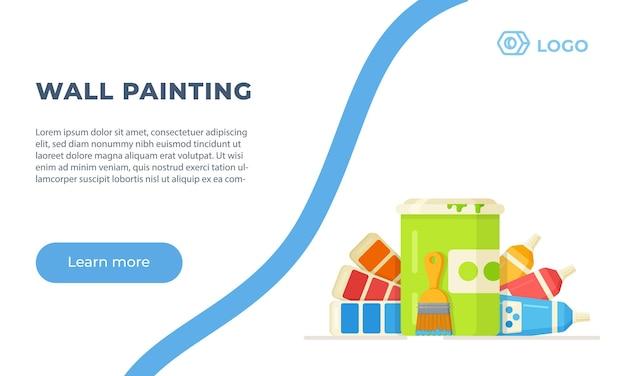 Banner de pintura de parede