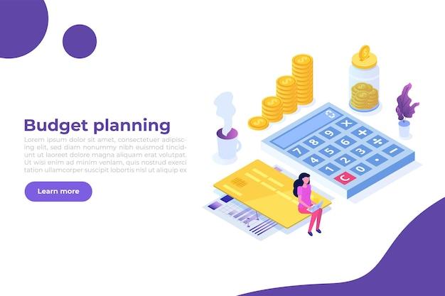 Banner de planejamento de orçamento