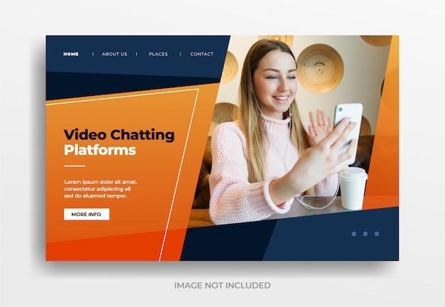 Banner de plataformas de bate-papo por vídeo