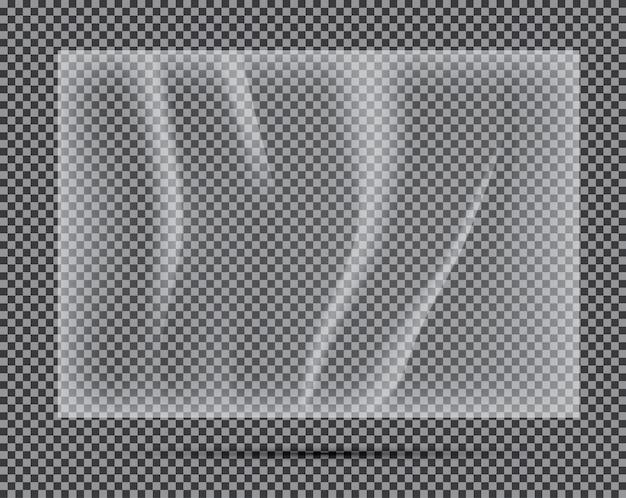 Banner de polietileno claro transparente. ilustração vetorial.