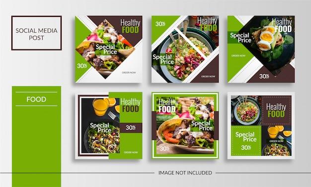 Banner de postagem de comida saudável de mídia social