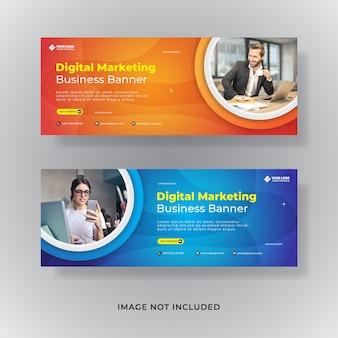 Banner de postagem de mídia social da capa do facebook de marketing comercial