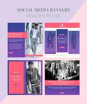 Banner de postagem de mídia social de moda