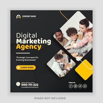 Banner de postagem do instagram de marketing empresarial digital