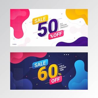 Banner de preço de oferta de desconto de venda