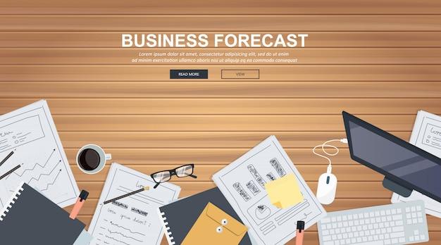 Banner de previsão de negócios