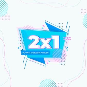 Banner de promoção 2x1