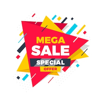 Banner de promoção abstrata oferta especial