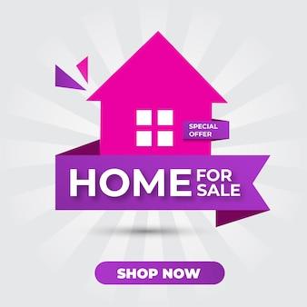 Banner de promoção de casa à venda