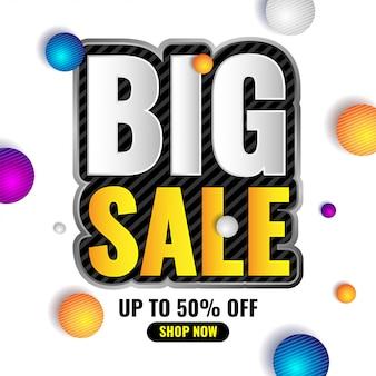 Banner de promoção de grande venda